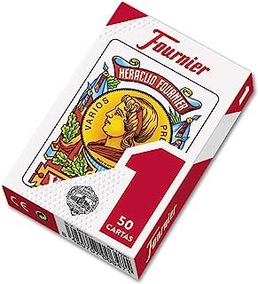 comprar comparacion Fournier F20991 - Baraja española Nº 1, 50 cartas, surtido: colores aleatorios