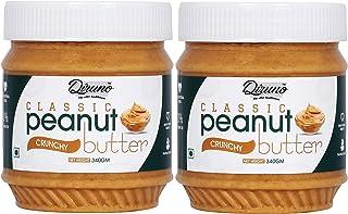 Diruno Classic Peanut Butter Crunchy 340gm (Gluten Free, Non-GMO) Pack of 2