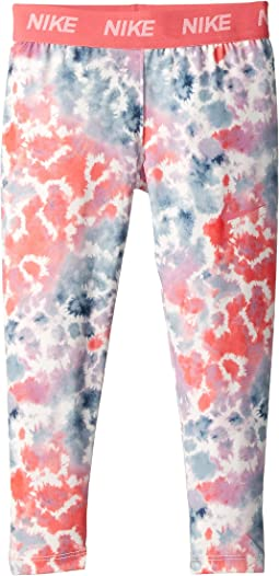 Rainbow Wash All Over Print Leggings (Little Kids)
