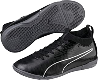 PUMA Boys Evoknit FTB II IT JR Football Boots, Black Black Silver