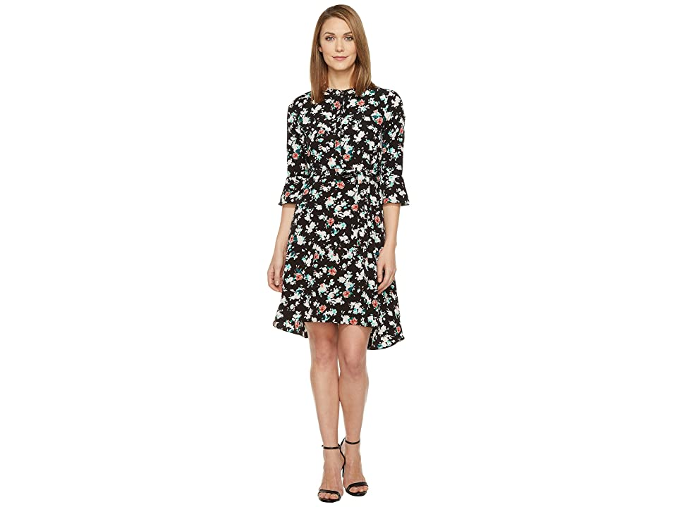 Ellen Tracy Soft Shirtdress (Petite Blooms Multi) Women