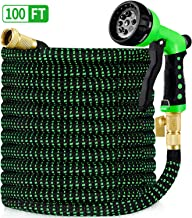 "HBlife 100ft Garden Hose, All New 2020 Expandable Water Hose with 3/4"" Solid Brass.."