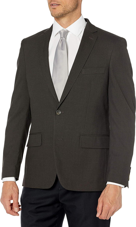 J.M. Haggar mens Jm Haggar Premium Performance Stretch Stria Slim Fit 2-button Suit Separate Coat