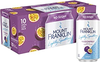 Mount Franklin Lightly Sparkling Passionfruit 10 x 375ml Cans