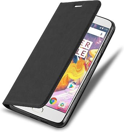Cadorabo Coque pour OnePlus 3 / 3T en Noir Nuit – Housse Protection avec Fermoire Magnétique, Stand Horizontal et Fente Carte – Portefeuille Etui Poche Folio Case Cover