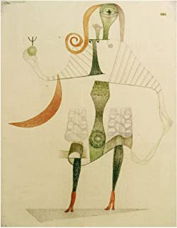 Music Poster Paul Klee - Female Costume Mask 1924 Print 60x80cm