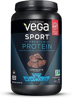 Vega Sport Premium Protein Powder, Chocolate, Plant Based Protein Powder Post Workout - Certified Vegan, Vegetarian, Keto-...