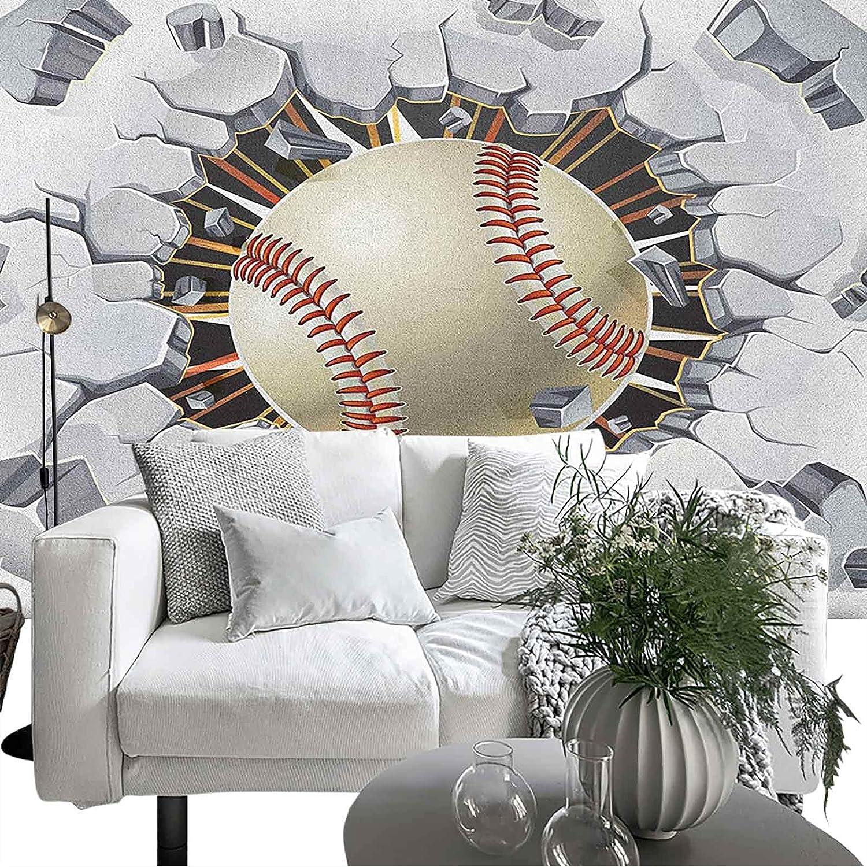 Self-Adhesive shopping Wallpaper Inexpensive Wall Decoration Baseball Sports Old and