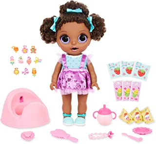 Baby Born Surprise Magic Potty Surprise Purple Eyes – Doll Pees Glitter & Poops Surprise Charms