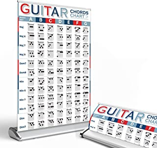 Guitar Chord Chart of Essential Chords | Reference with Portable Stand, The Great Guitar Chords Poster for Beginners, Guit...
