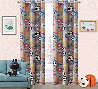 Sapphire Home Kids Boys Teens 2 Window Curtain Panels 84