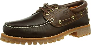 Timberland Men's Earthkeepers 3-Eye Classic Cloth Lined Boat Shoe (Medium Brown/Full Grain, 10 D(M) US)