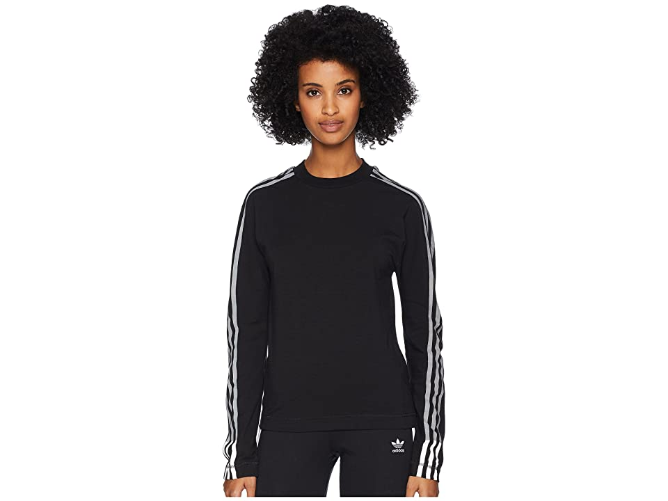 Image of adidas Y-3 by Yohji Yamamoto 3 Stripes Long Sleeve Tee (Black/Core White) Women's T Shirt