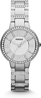 Women's Virginia Stainless Steel Crystal-Accented Dress Quartz Watch