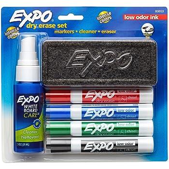 EXPO Dry Erase Marker Set, Chisel Tip, 6 Piece