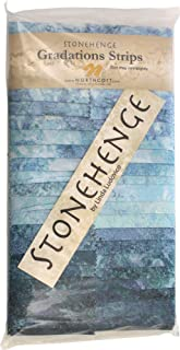 Stonehenge Gradations Mystic Midnight Stone Strips 40 2.5-inch Strips Jelly Roll Northcott