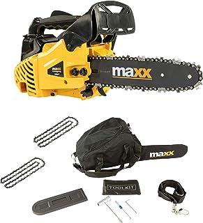 """Maxx Tronçonneuse à essence élagueuse - 25 cm - Avec 2 chaînes et barre de 10""""incluses"""