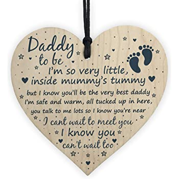 RED OCEAN Daddy To Be Gifts Sign Baby Shower Dad ...