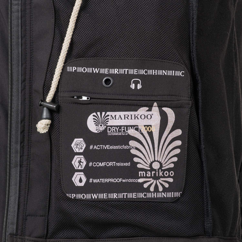Marikoo Damen Softshell-Jacke Outdoorjacke Zimtzicke XS-3XL