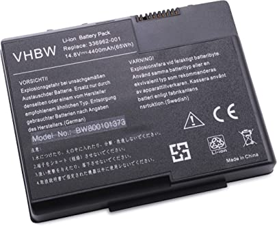vhbw Akku passend f r HP Business Notebook nx7000  nx7010 Laptop Notebook  Li-Ion  4400mAh  14 8V  65 12Wh  schwarz