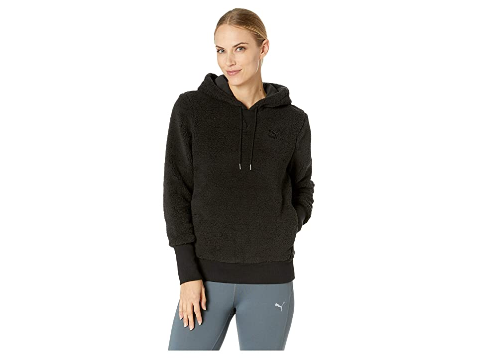 PUMA Downtown Pullover Hoodie (PUMA Black) Women