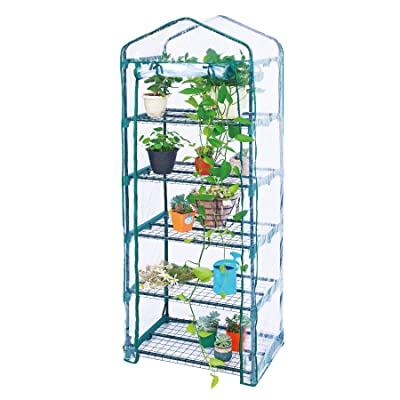 Worth 5 Tier Mini Greenhouse with Clear Polyeth...