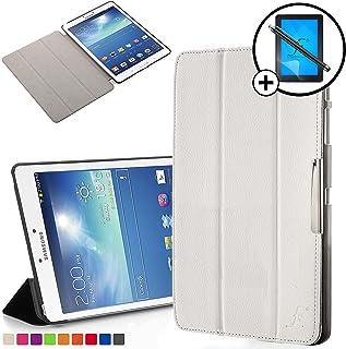 Forefront Cases Smart Funda para Samsung Galaxy Tab 3 8.0 Carcasa Stand Case Cover – Protección Completa y Ultra Delgado Ligera con Auto Sueño Estela Función + Lápiz y Pantalla (Blanco)
