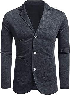 MAXMODA Men's Blazer Slim Fit Jacket with Front Pocket Sporty Jacket Leisure Suit