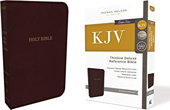 KJV, Deluxe Thinline Reference Bible, Leathersoft, Burgundy, Thumb Indexed, Red Letter Edition, Comfort Print: Holy Bible, King James Version