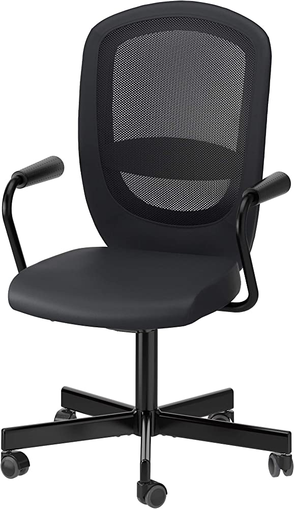 Ikea flintan/nominell,sedia girevole con braccioli,in poliuretano e resina 992.081.95