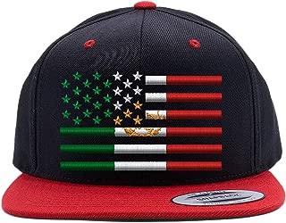 USA Mexico Flag Combination Snapback Cap HAT