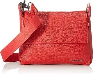 Mandarina Duck Damen Mellow Leather Tracolla/Nero Umhängetasche, 21x15x6 centimeters (W x H x L)