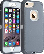 Co-Goldguard iPhone 7/8 case, [Heavy Duty] Armor 3 in 1 Rugged Cover with Front Frame Dust-Proof Shockproof Drop-Proof Scratch-Resistant Tough Shell for iPhone 7 iPhone 8 4.7(Gray White)