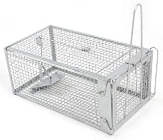 H&B Luxuries Rat Trap - Humane Live Animal Cage for Rat Mouse Hamster Mole Weasel Gopher Chipmunk Squirrels and More Rodents KM002