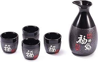 "Sake Set ""Nagoya"" 5 delar gjorda av stengods"