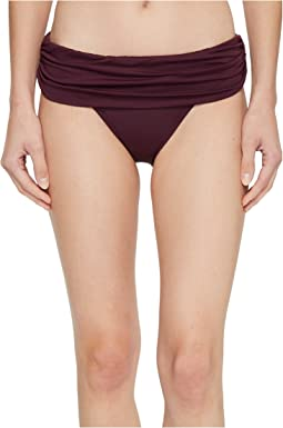 LAUREN Ralph Lauren - Beach Club Solids Wide Shirred Banded Hipster Bottom