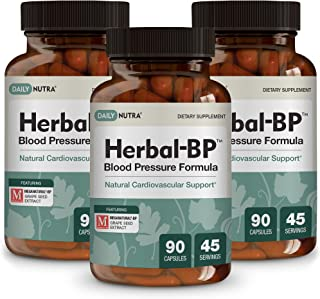 Herbal-BP Natural Blood Pressure Supplement by DailyNutra - Supports Cardiovascular Health & Stress Management | Medical G...