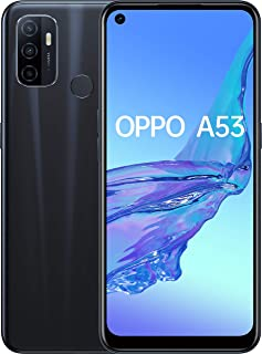 OPPO A53-4 GB + 64 GB Snapdragon 460 6.50 Inch 5000 mAh 16 MP Camera Sim Free Android 10 Dual Sim Smartphone - Black