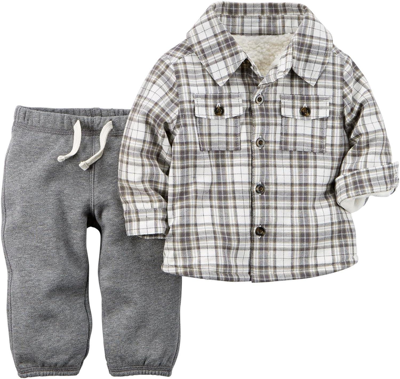 Carter's Baby Boys' 2 Piece Shirt Set - Heather - 6 Months