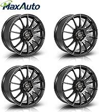 MaxAuto 4 pcs 17x7.5, 5X112, 73.1, 35, Matte Black Rims Alloy Wheels Compatible with Volkswagen Passat 1998-2005 & Tiguan & CC 2009-17/Audi A4 1996-2017/Audi A6 1995-2004 2006-2017/Audi A5 10-14