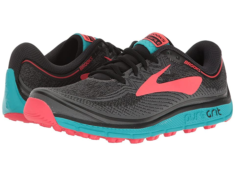 Brooks PureGrit 6 (Black/Ebony/Diva Pink) Women