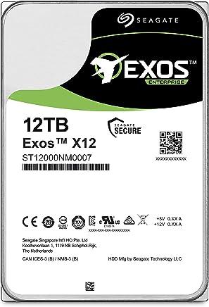 "Seagate Exos X12 12TB SATA 6Gb/s 256MB Cache Enterprise Hard Drive 3.5"" (ST12000NM0007)"