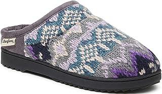 Dearfoams - Zoccolo da donna in microsuede o grosso lavorato a maglia, per interni ed esterni