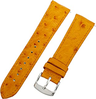 Swiss Watch International 21 MM Light Orange Genuine Ostrich Strap 21OS31M