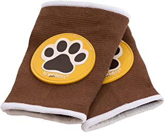 Ah Goo Baby Kneekers Baby Knee Pads for Crawling, Unisex, Paws Toffee Pattern, for Chunky Legs