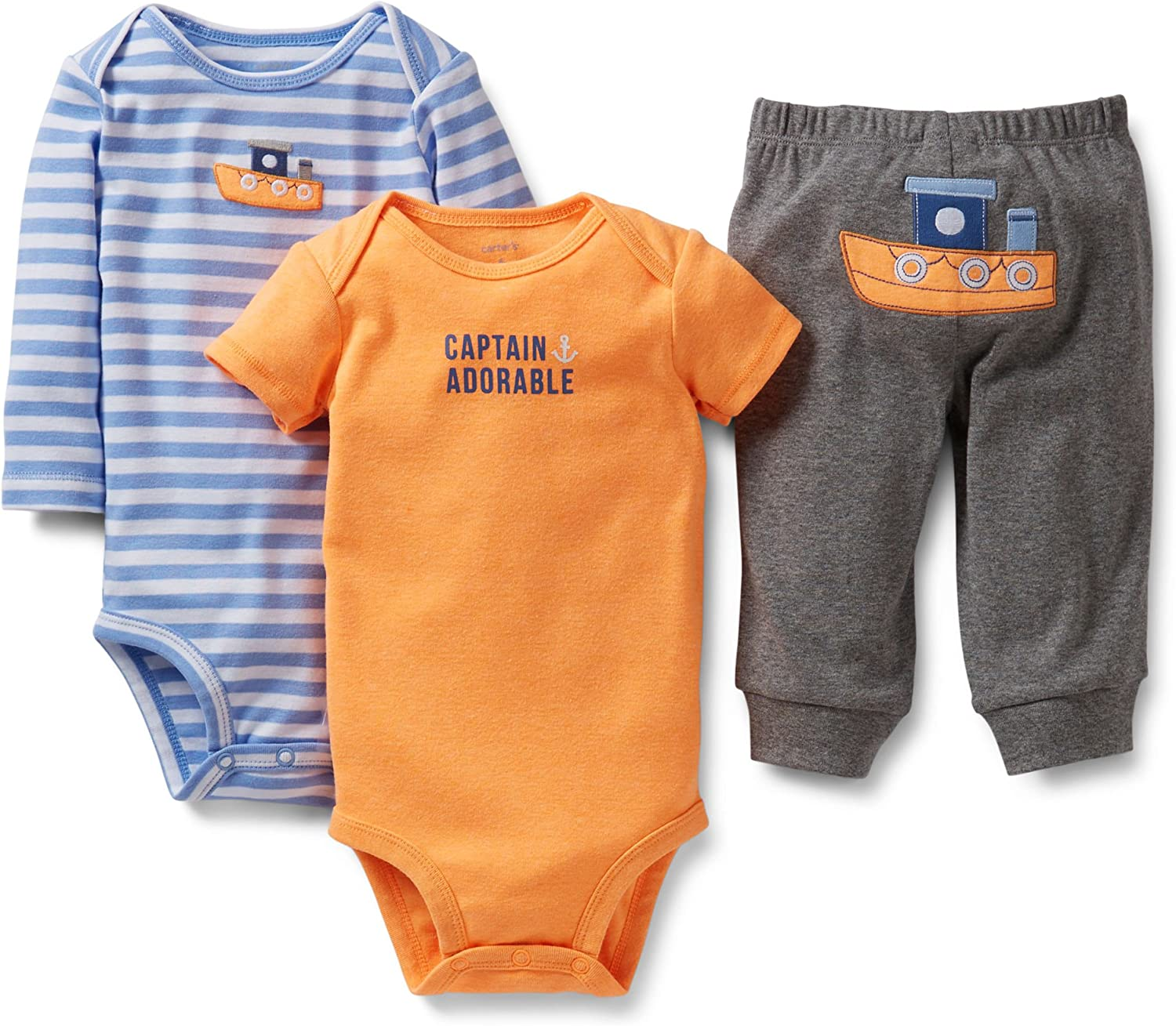 Carter's 'Captain Adorable' 3pc Bodysuit All stores are sold Set Sales for sale Pant