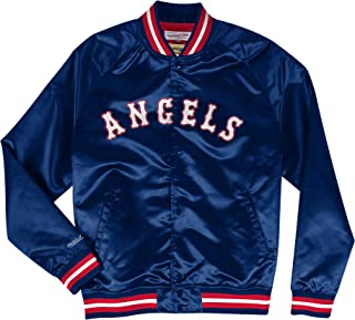 pretty nice 6350e 1478f Mitchell   Ness California Angels MLB Men s Big Time Lightweight Satin  Jacket