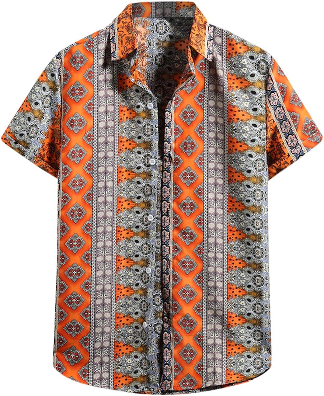 FUNEY Mens Floral Hawaiian Shirts Short Sleeve Button Down Tropical Beach Aloha Shirts Funny Hawaiian Shirts for Men