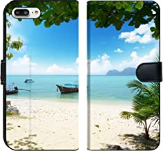 Liili Premium Phone Case Designed for iPhone 8 Plus and iPhone 7 Plus Flip Fabric Wallet Case Long Boat on Phi Phi Island in Thailand Image ID 13381303