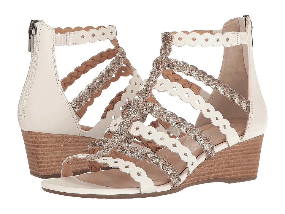 Rockport Total Motion 55mm Wedge Gladiator Sandal (White/Gold) Women